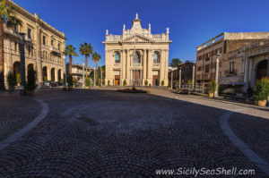 Riposto Sicily: church and main square